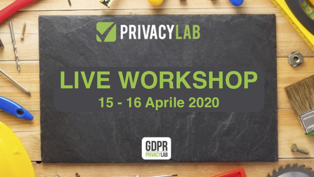 Trattamento dei dati durante una Pandemia – Workshop