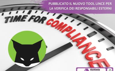 Pubblicato il nuovo Tool Lince per la verifica dei responsabili esterni