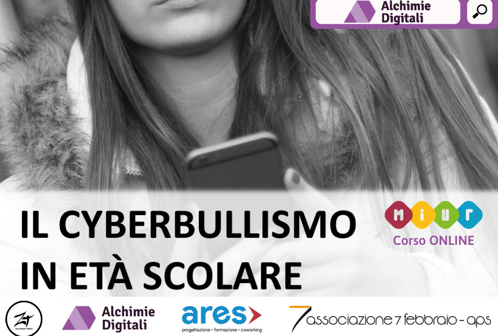 """Siamo Partner del corso """"IL CYBERBULLISMO IN ETÀ SCOLARE"""""""